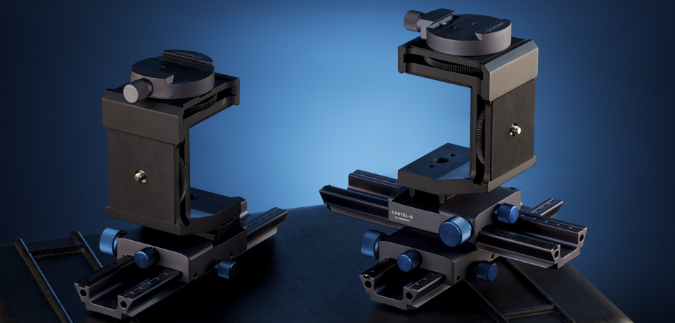 The new Support-Stands - for 35mm DSLRs and HCam-B1., photographiert von Stefan Steib